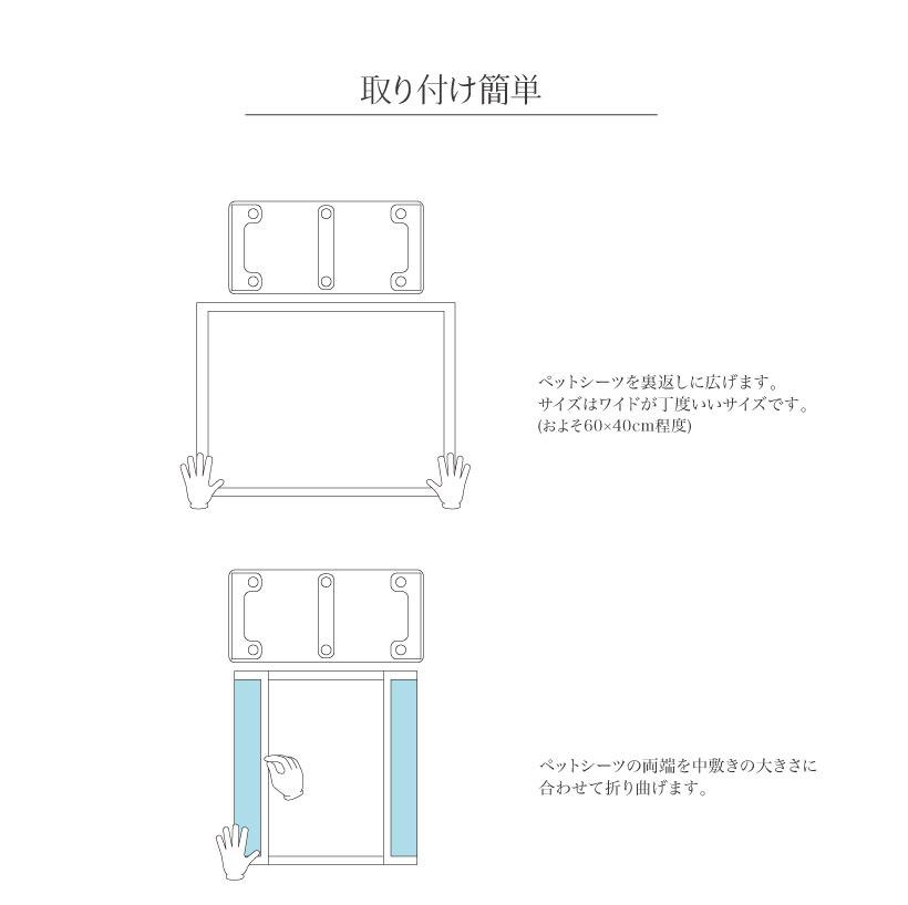 キャリーバックNEW L専用 シーツ取り付けマット(ワイドシーツ対応)